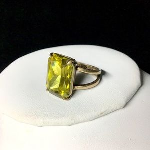 Large Emerald Cut Ann Taylor Ring